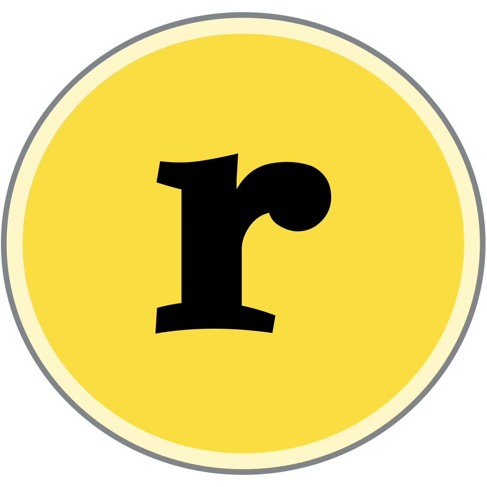 roots hummus logo letter R icon