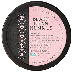 roots hummus black bean lid