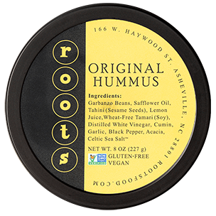 roots hummus original flavor lid